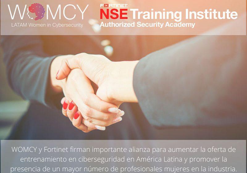 WOMCY y Fortinet firman alianza para entrenar en ciberseguridad