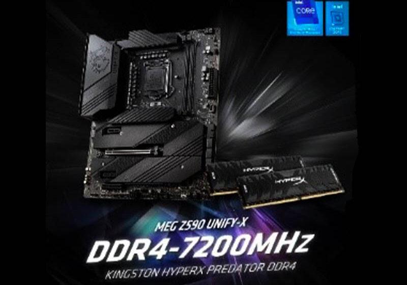 HyperX y MSI establecen un nuevo récord mundial de overclocking de DDR4 a 7200MHz