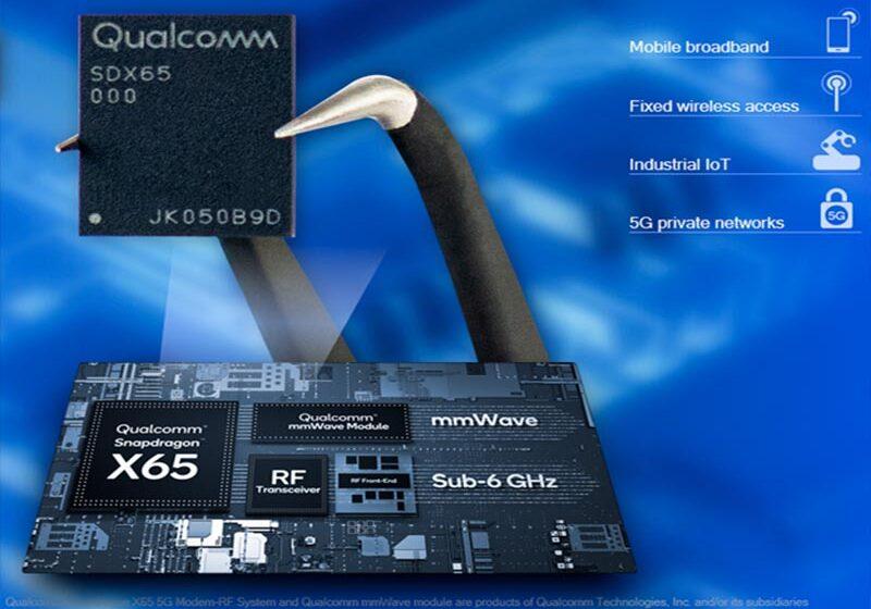 Qualcomm anuncia nuevas funciones en el sistema de Modem-RF Snapdragon X65 5G