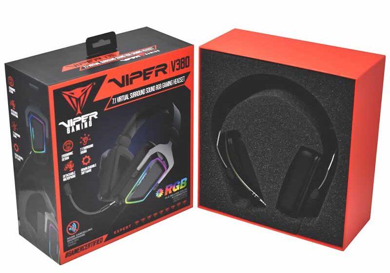 Headset Viper V380 Virtual 7.1 de Patriot para gamers en Perú